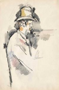 L'homme à la pipe (Étude pour un joueur de cartes) (recto); Père Alexandre (verso)